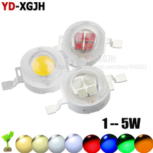 10 шт. высокомощный светодиодный чип 1 Вт 3 Вт Теплый Холодный белый красный синий лампа диоды SMD110-120LM светодиодный s чип для 3 Вт-18 Вт Точечный светильник
