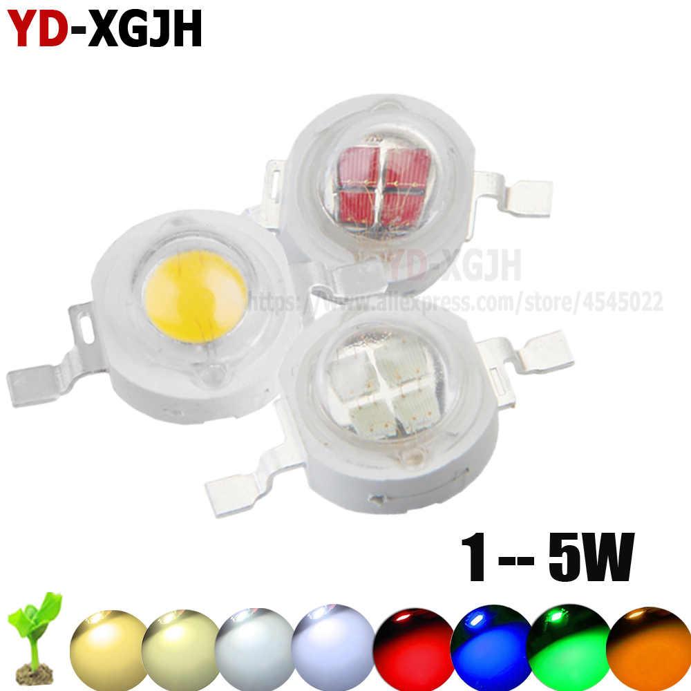10 pièces haute puissance puce LED 1W 3W chaud blanc froid rouge bleu lampe ampoule Diodes SMD110-120LM LED s puce pour 3 W-18 W Spot lumineux Downlight