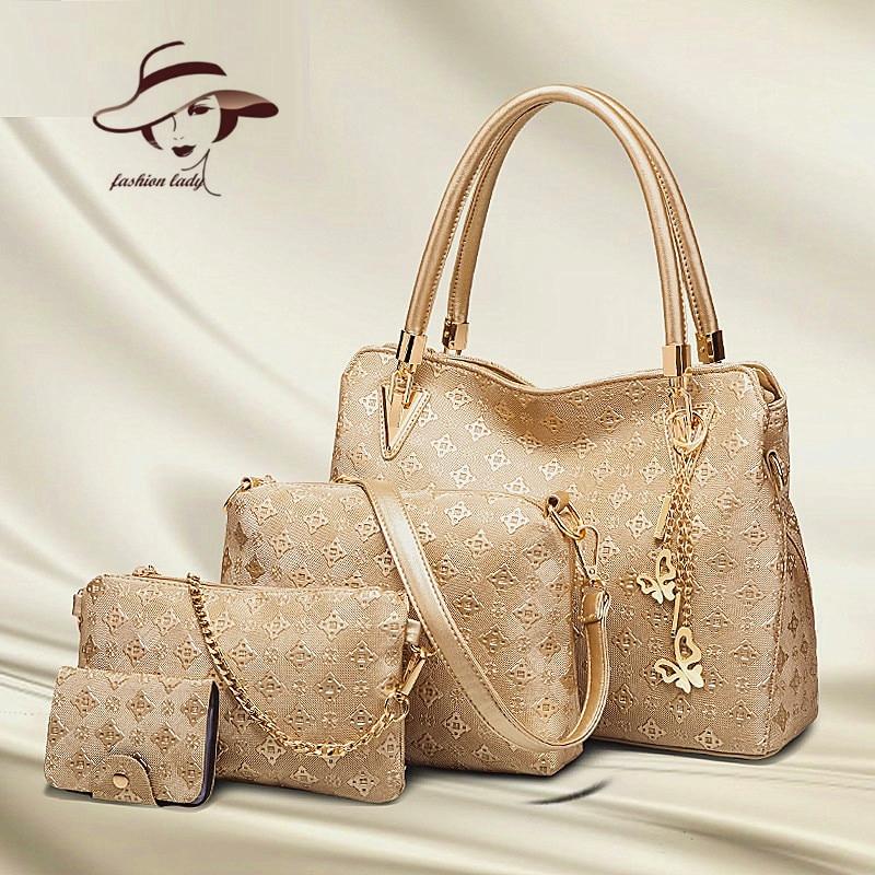 4 PCS/Set Buy One Get four Free Shipping Bags 2018 Women Handbag Fashion Four Female Bag Women Leather Handbags Messenger Bag