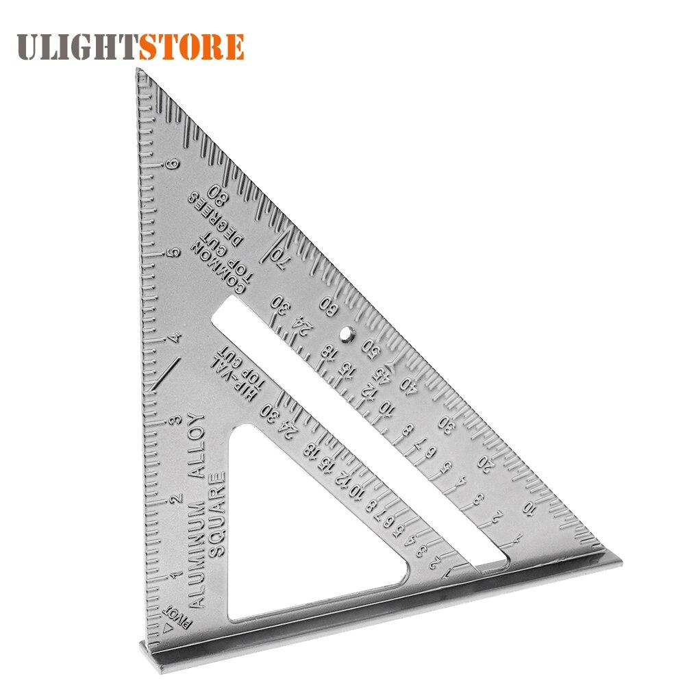 ᐂ7 pulgadas aleación de aluminio metal ángulo recto regla de ...