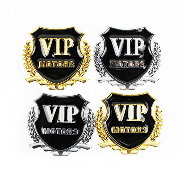 Car Styling VIP Car Metal Stickers For BMW Audi Opel KIA Hyundai Peugeot Ford Nissan Mazda Chevrolet Benz Accessories
