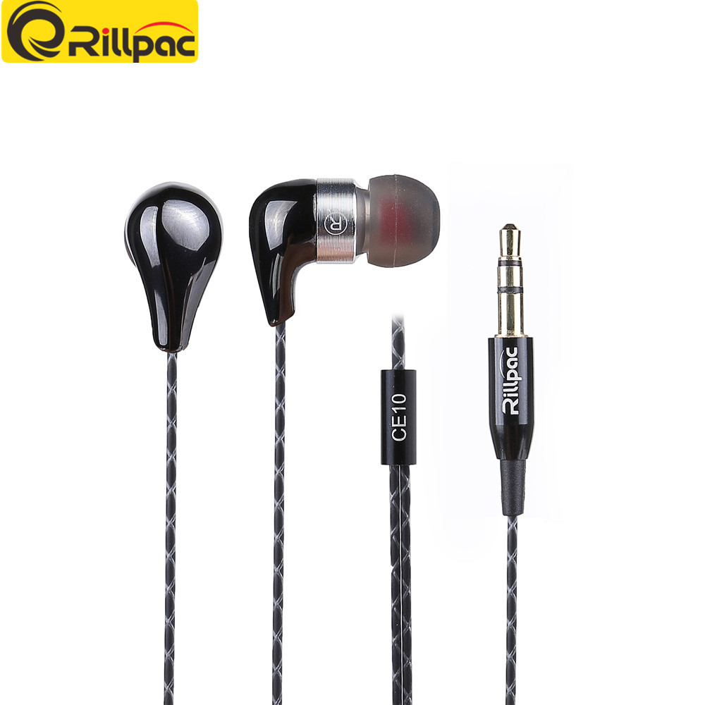 Rillpac CE10 Noise Isolating In-Ear Stereo Earphones Ceramic Metal Construction HiFi Earphone for mobile phone Brand Earphones qkz kd8 dual driver noise isolating bass in ear hifi earphone for phone wired stereo microphone control headset for music