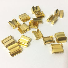 (30pc /lot ) 10mm Gold Leg Ratchet Hardware metal buckle Suspenders adjustment buckles Craft materials(China)
