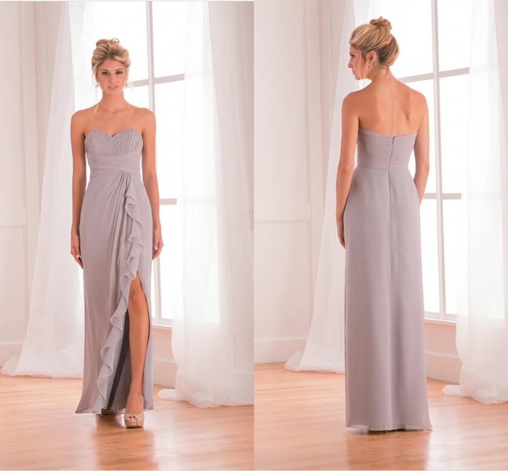 Popular fast shipping bridesmaid dresses buy cheap fast shipping beach sliver strapless spring bridesmaids dresses cheap sexy formal prom party gowns fast shipping vestidos de ombrellifo Image collections