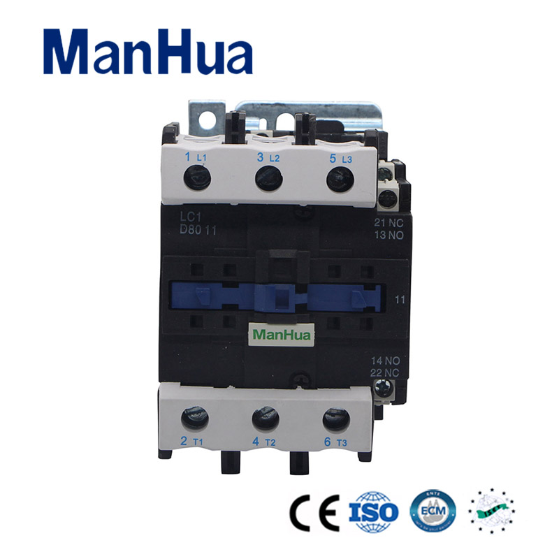 Manhua Hot Product LC1-D80 AC TC Copper Electrical Contactor 220-230V stock 1pcs lot new and origian facotry original telemecanique ac contactor lc1 d50m7c