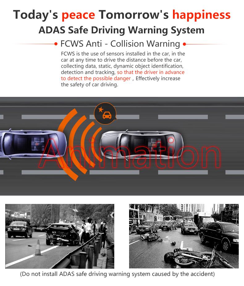 JADO D680S Car Dvr Camera Full HD 1080P Car Dvrs Dual Lens Recorder 6.86' Car Camera Dash cam ADAS Rearview Mirror Registrar 11