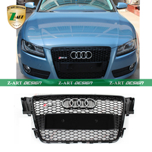 Z-ART ABS A5 RS5 Mesh Grille,Black Car Front Grill Grille Fit For Audi A5 2D 4D S5 RS5 8T Bumper 2009-2011 High quality