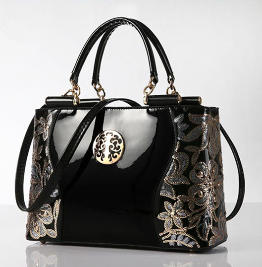 Retro Vintage Women Patent Leather Handbag Female Messenger Bags Crossbody Bags High Quality Famous Designer Brand Ladies Bags high quality iron wire frame sun glasses women retro vintage 51mm round sn2180 men women brand designer lunettes oculos de sol