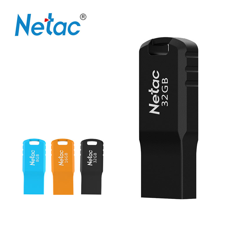 Netac U195 USB2.0 USB Flash Mini Flash Disk Pen Drive 8GB 16GB 32GB Black Blue Orange Rectangle Memory Flash Drives U Stick elegant blue and white porcelain 8gb usb flash drive black ink ball pen wireless mouse set