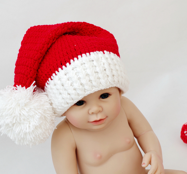 baby christmas hat newborn photography props patagonia knitted crochet hat cap infant beanies handmade hat for