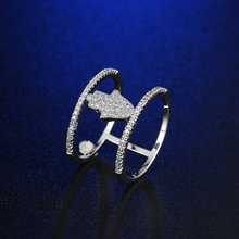 FYM Fashion Luxury Silver Color High Quality Classic Ring Round Zircon Crystal Women Finger Rings For Party Wedding fym new luxury classic ring flower gold color zircon crystal fashion women cz diamond finger rings for party gift wedding