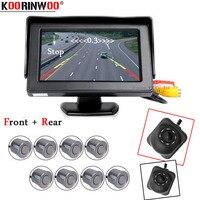 Koorinwoo Car Security System 8 Alarm Car Parking Kit Sensor Radars Monitoring Dash Car Rearview camera Ultrasonic Detection