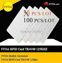 5yoa 100 pces em4100 125khz id keyfob rfid tag tag llaveros llavero porta chave cartão chave fob token anel chip de proximidade