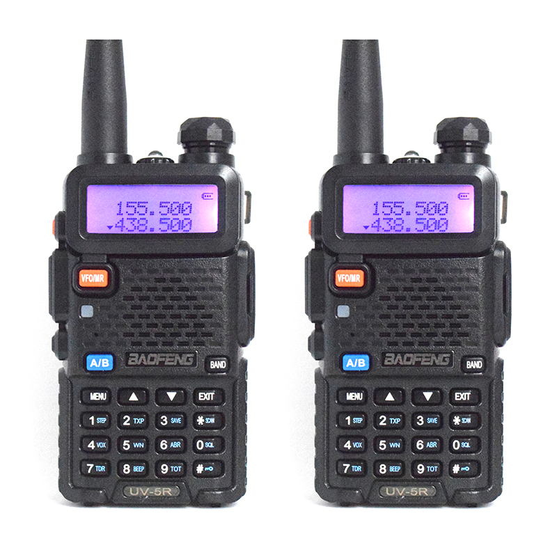 2 шт. Baofeng UV-5R портативная рация Профессиональный CB Радио трансивер Baofeng UV5R 5 Вт Dual Band Радио VHF и UHF Ручной двухстороннее радио