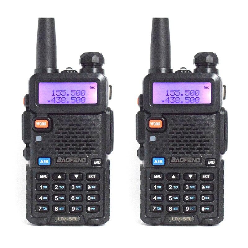 2PC BaoFeng UV-5R walkie talkie professional CB radio transceiver baofeng UV5R 5W Dual Band Radio VHF&UHF handheld two way radio