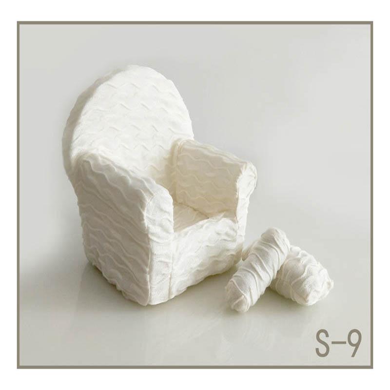 Реквизит для фотосъемки новорожденных, позирующий мини-диван, кресло на руку и 2 подушки, реквизит для фотосессии, студийные аксессуары для детей 0-3 месяцев - Цвет: 8