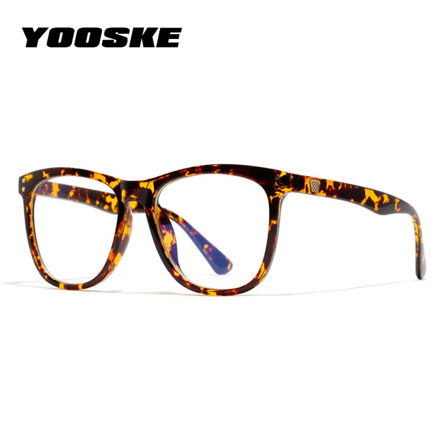 YOOSKE Anti Blue ray Do Vintage Óculos de Armação Mulheres Óculos Óptica Óculos de Leitura Óculos de Proteção Óculos de Computador À Prova de Luz Azul Transparente