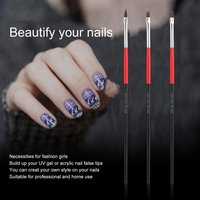 10Pcs nail art design painting dotting drawing pen brush tools