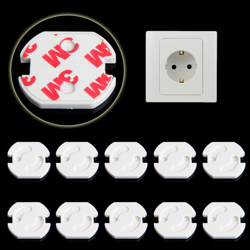 10Pcs Mains Plug Socket Cover Baby Proof Child Safety Plug Guard Protector