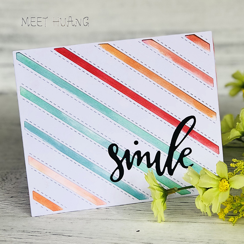 Word cuts Smile Metal Cutting Dies New 2018 Crafts Die Cuts For DIY Scrapbooking Embossing Paper Cards Decorative Tool