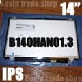 Nueva pantalla lcd portátil au optronics b140han01.3 full-hd lcd b140han01 b140han01.1 b140han01.2 pantalla ips fhd 1920*1080 edp 30pin