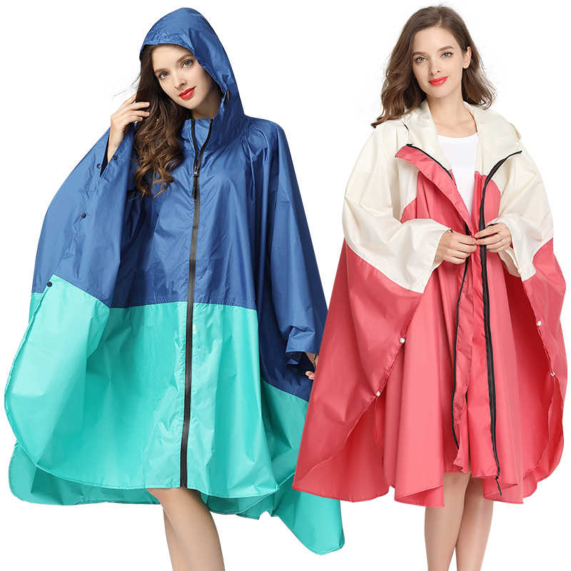 rain blocker large size rain//waterproof poncho for women with a hood women bicycle coat Rain poncho rain cover for children jacket motorcycle poncho in PVC for women with hood gray