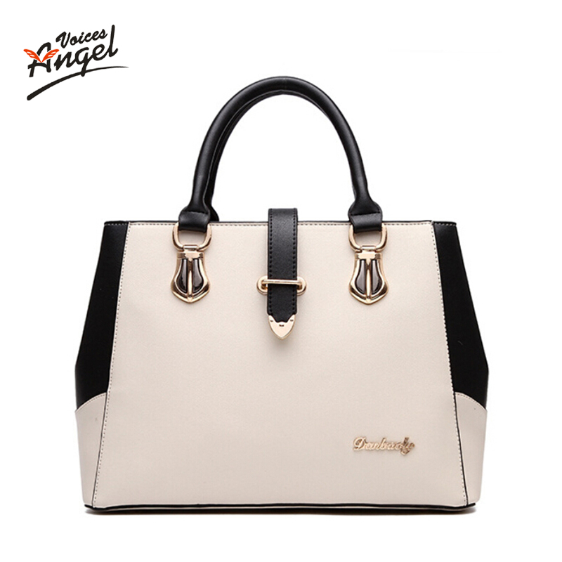 Angel Voices Female Women Leather Handbags Casual Medium Shoulder Bags Fashion Women Messenger Bags Fashion Women