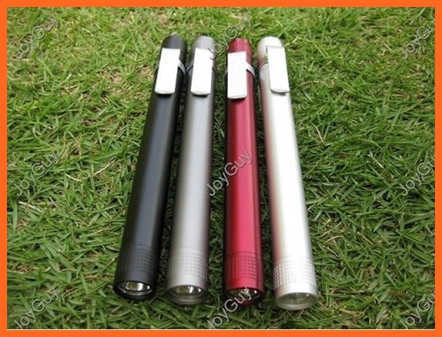 Portable Bright MXDL 3W LED Mini Pen Torch Flashlight 1x AAA Battery With Clip