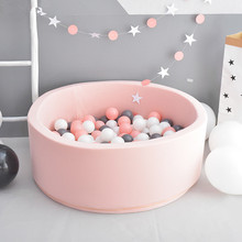 Baby Ball Pool INS Hot Infant Sponge Fencing Playpen Soft Round Kiddie Balls Pit Nursery Play Toy Gift for Kids Children Room(China)