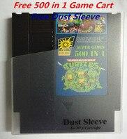 Super Gry Darmowe 500 w 1 Grze Koszyk, 72 Piny Gra Cartridge Wymiana Powłoki Z Tworzywa Sztucznego, bezpłatne Pył Rękawem