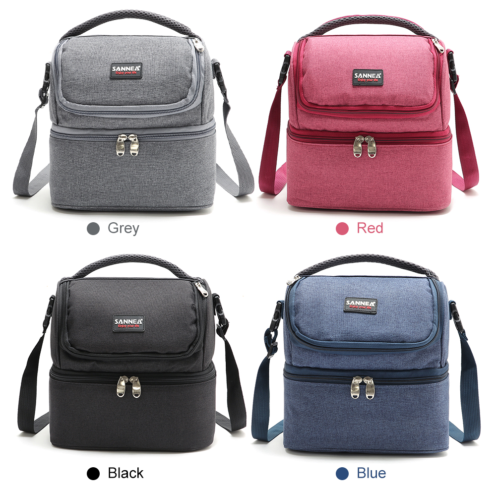 Image 5 - Lixada 7L Double Deck Insulated Bag Cooler Lunch Tote Bento Cooler Outdoor Camping BBQ Picnic Cooler Tote Bag-in Picnic Bags from Sports & Entertainment