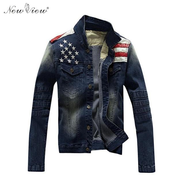 ec8d9fff1ff5 2017 джинсовая куртка Для мужчин куртка-бомбер Куртки и Пальто для будущих  мам модные ковбойские