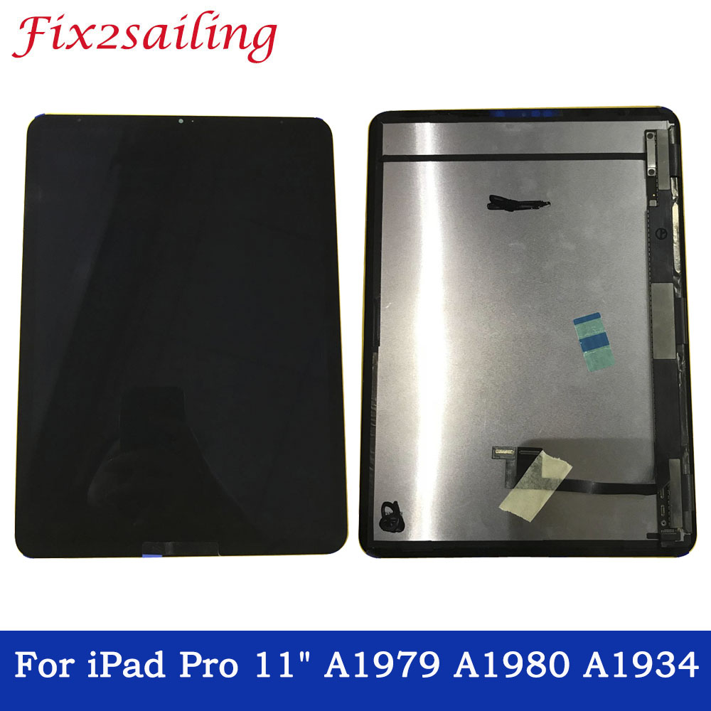 Black LCD Display Touch Screen Digitizer Assembly For iPad Pro 11 2018 Year A1980 A2013 A1934 A1979 Tablet Full screenBlack LCD Display Touch Screen Digitizer Assembly For iPad Pro 11 2018 Year A1980 A2013 A1934 A1979 Tablet Full screen