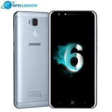 DOOGEE Y6c LTE Fingerprint smartphone 5.5Inch HD 2GB+16GB Android6.0 Dual SIM MTK6737 Quad Core 8MP 3200mAH WCDMA GSM cellphone