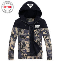 HTLB Brand New Men S Fashion Hooded Bomber Casual Jacket Coat Male Hip Pop Camouflage Military