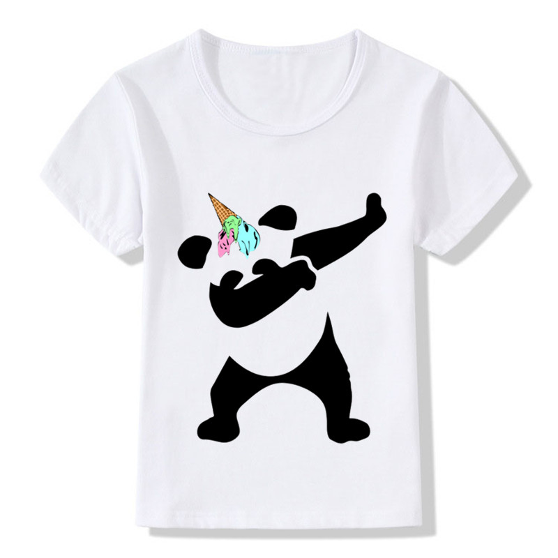 Children Surprised Dabbing Panda Ice Cream Unicorn Design