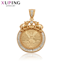 Xuping European Style Medal Type Pendant for Women Girls Synthesis Cubic Zirconia Jewelry Mothers Day S105,7-33069
