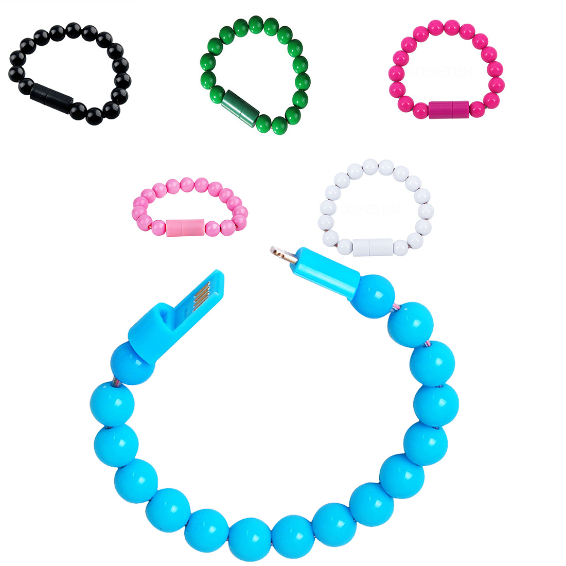 Micro USB Charging Cable Beads Bracelet