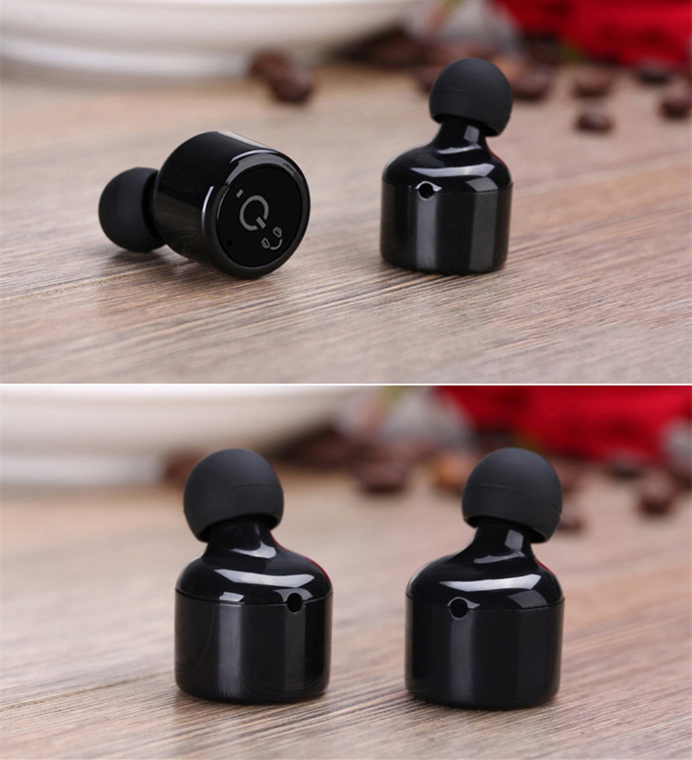 BANMIX HD HIFI Twins X1T Mini Bluetooth Earphone Headset Bass Stereo CSR4.2 True Wireless Voice Prompt Earbuds with Charging Box
