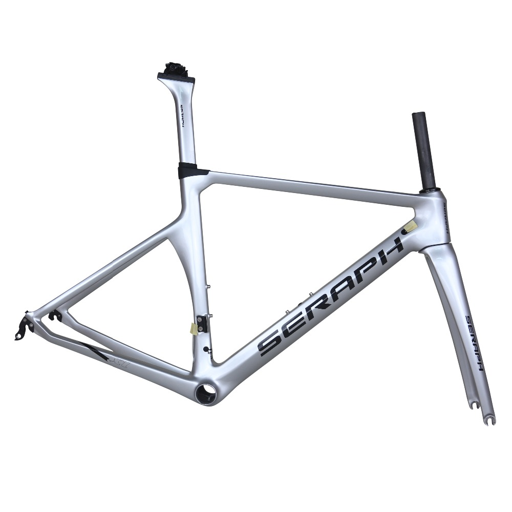 SERAPH paint carbon bicycle frame metallic silver  TanTan company.  factory sale OEM products  road carbon frame TT-X1 frame