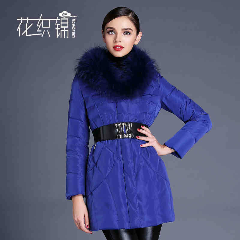 2015 Winter Thicken Warm Woman Down jacket Coat Parkas Outerwear Luxury 90% White Duck Long Plus Size 3XXXL Raccoon Fur collar