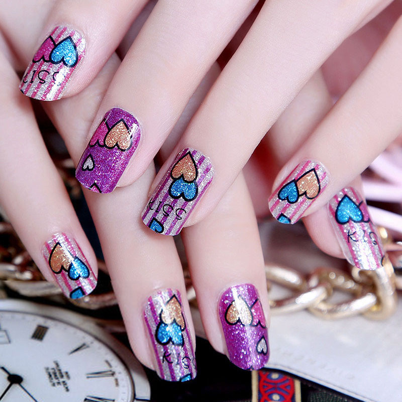 2017 New Arrive Summer Style Nails Stickers Nail Art Decorations Sticker Glitter Hot Design 1 L Off Polish In Decals From