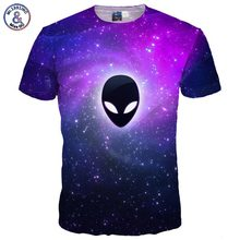 Mr.1991INC Brand T-shirt Men/women 3d T-shirt Print Alien Extraterrestrial Fashion Space Galaxy T shirt Summer Tops Tees