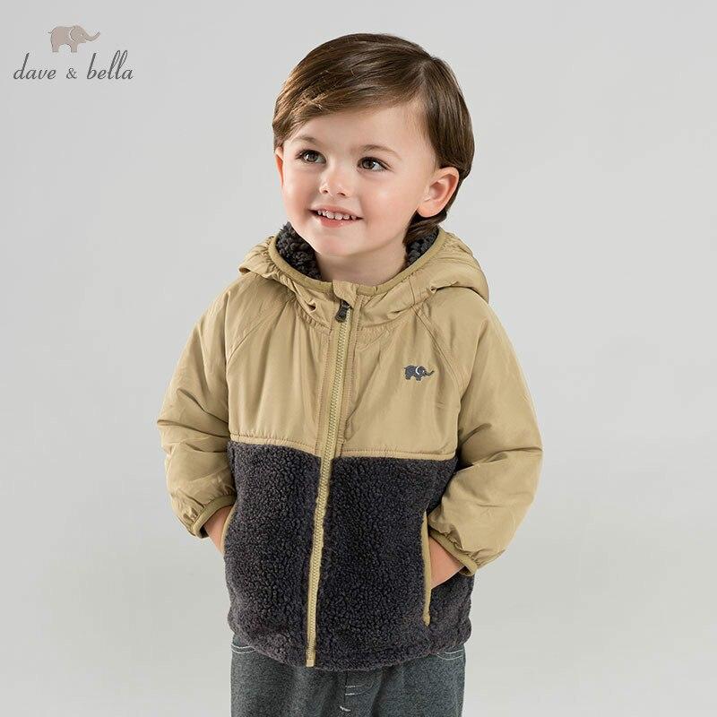 DB8885 dave bella winter baby padding jacket children unisex fashion outerwear kids print coat цена 2017
