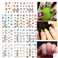 2015 Fashion styles Cartoon  Designs 11Pcs/lot  Larger One Set Cute Owl Nail Art Stickers Water Nail Decals Manicure #2226-2236