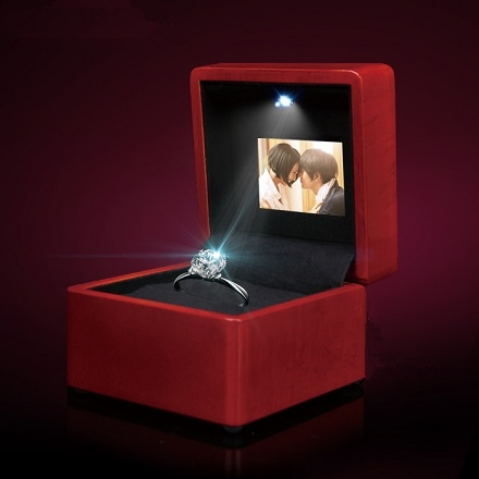 Creative LED Ring box wedding pendant necklace box ring box Video play high quality box Music Ring Box Video Ring Box стоимость