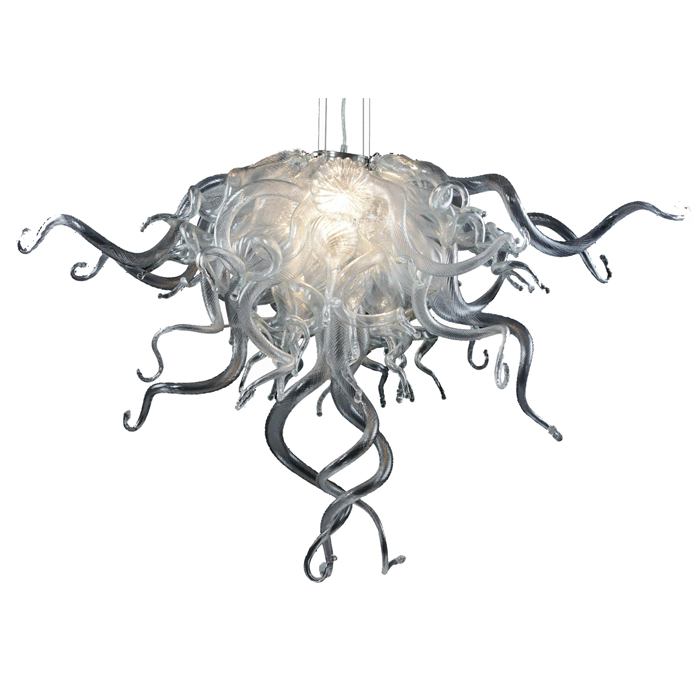 Longree 2017 Popular LED Bulbs Resource Glass Ceiling Chandelier for Market Decoration Style Design Glass Roof Lighting