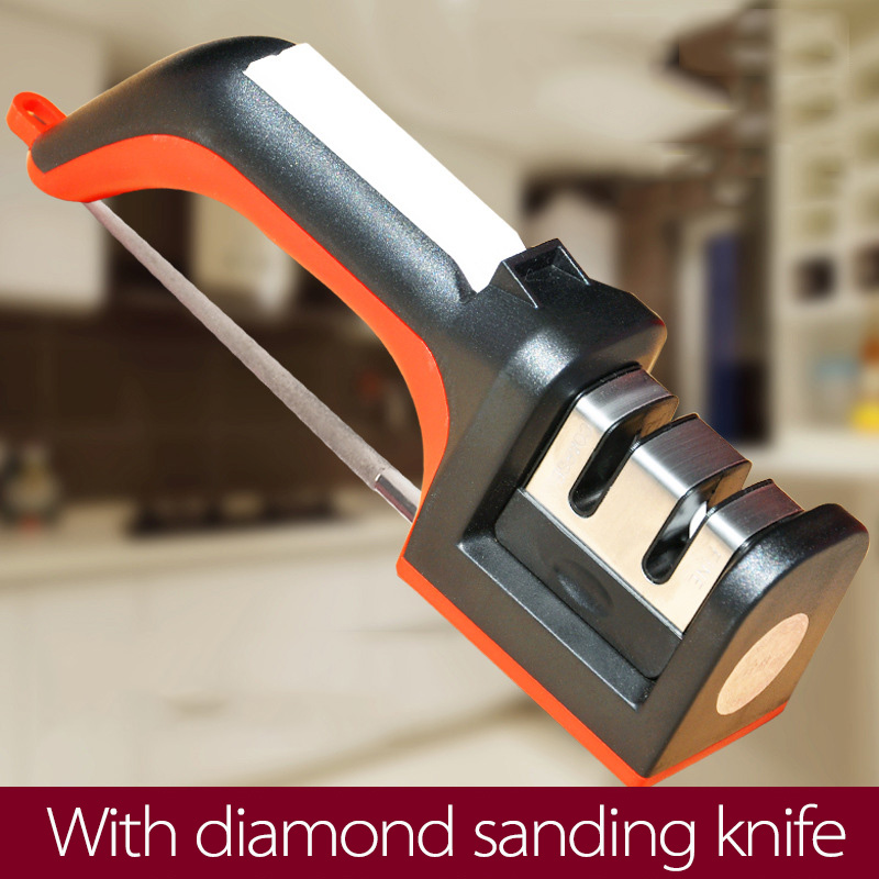 Professional 3 Stages Sharpener Knife Grinder Kitchen All Iron Steel KnifeSharpening System Tools Kitchen Knives Quick