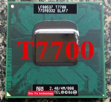 Garantie à vie Core 2 Duo T7700 2.4 GHz 4 M 800 double portable processeurs ordinateur portable Socket du CPU PGA 478 pino ordinateur d'origine