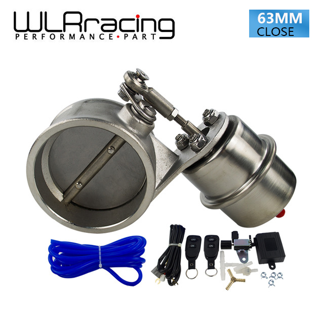 WLRING Exhaust Control Valve With Vacuum Actuator Cutout 2 5 63mm Pipe CLOSED with ROD with